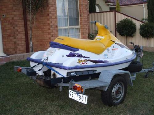 Used JET SKIS KAWASAKI 750CC With 2 Seater Kawasaki Jetski 1999 750cc Galvanised Trailer Both And Registered Until 12 06