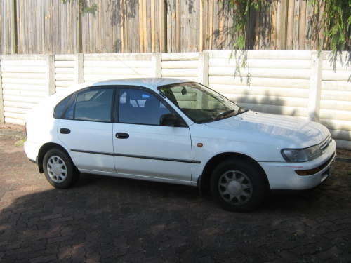 1996 used toyota corolla hatchback car sales sunnybank qld very good 3 999. Black Bedroom Furniture Sets. Home Design Ideas