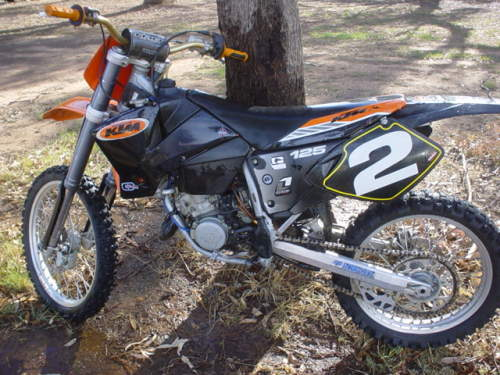 2002 ktm 125sx motocross shepparton vic excellent condition